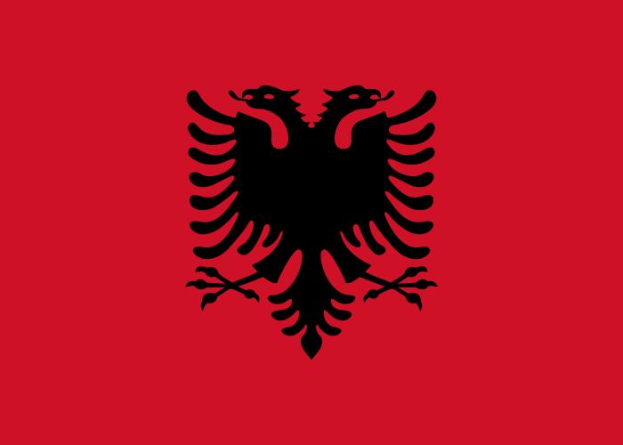 la bandera de Albania en gran resolucion