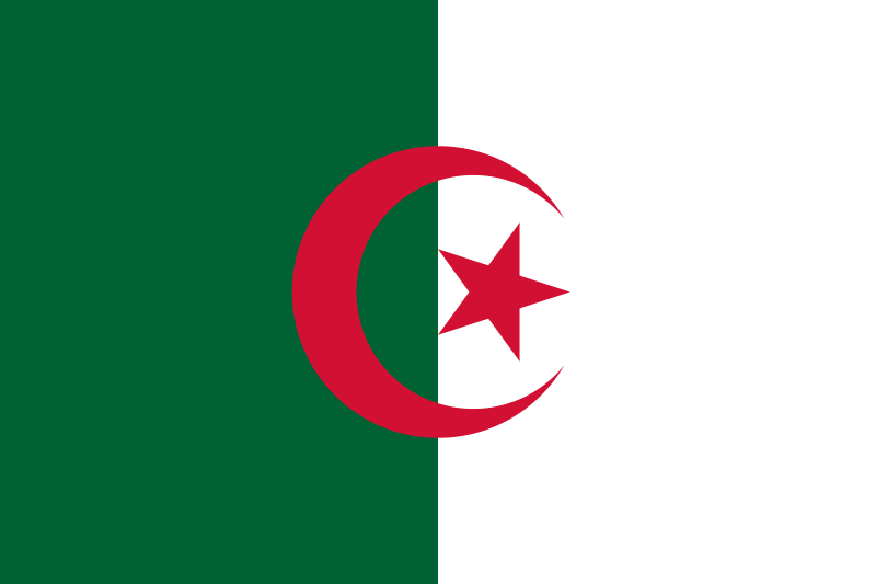 la bandera de Argelia en gran resolucion
