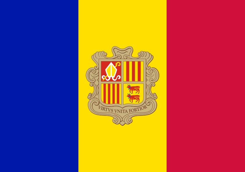 la bandera de Andorra en gran resolucion