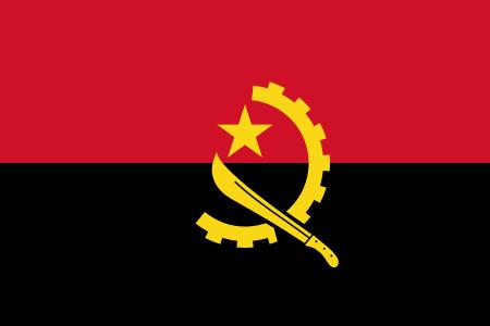 la bandera de Angola en gran resolucion