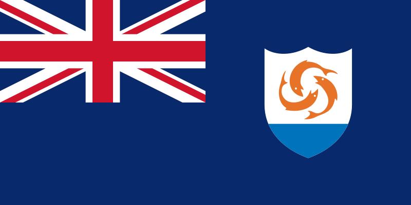 la bandera de Anguila en gran resolucion