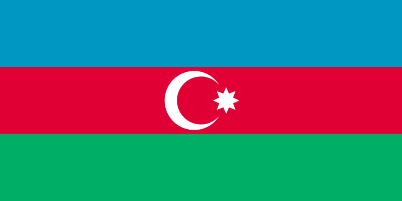 la bandera de Azerbaiyán en gran resolucion