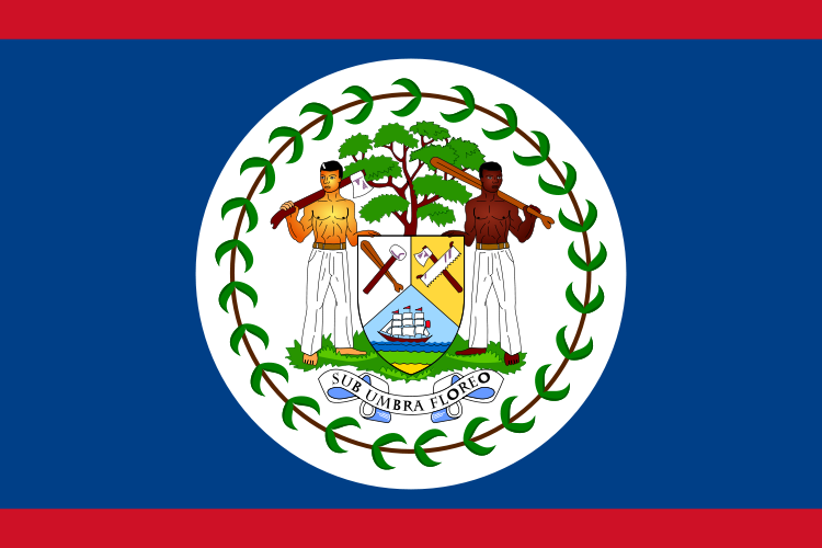 the flag of Belize high resolution