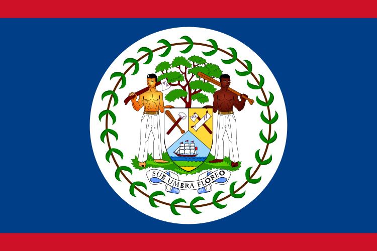 la bandera de Belice en gran resolucion