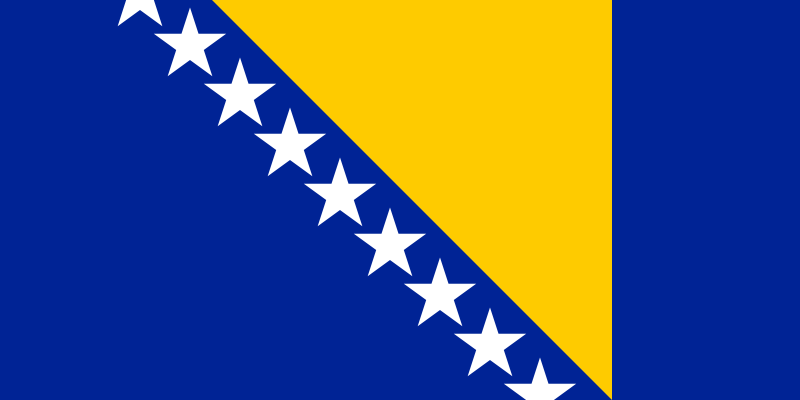 the flag of Bosnia and Herzegovina high resolution