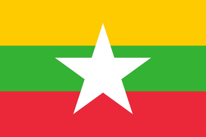la bandera de Birmania en gran resolucion