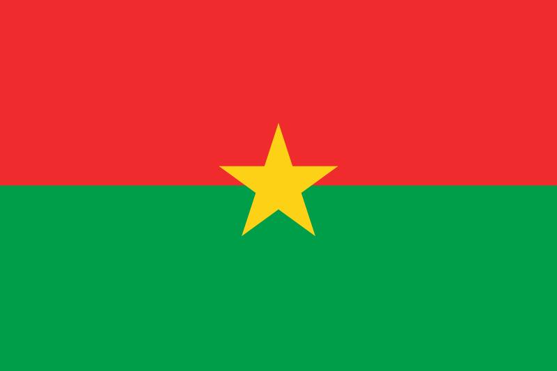 bandeira Burkina Faso em alta resolução