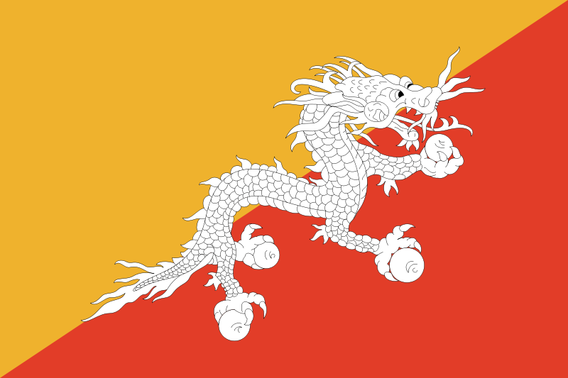 the flag of Bhutan high resolution
