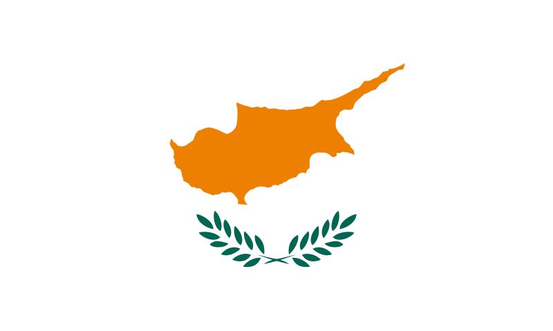 die Flagge von Zypern hohe Auflösung
