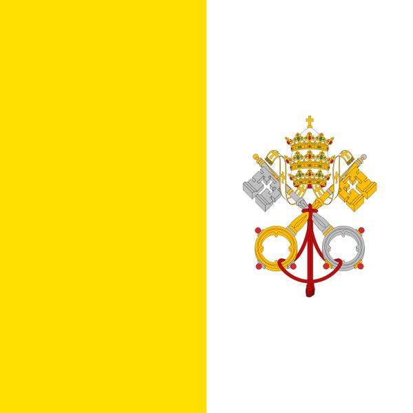 la bandera de Ciudad del Vaticano en gran resolucion