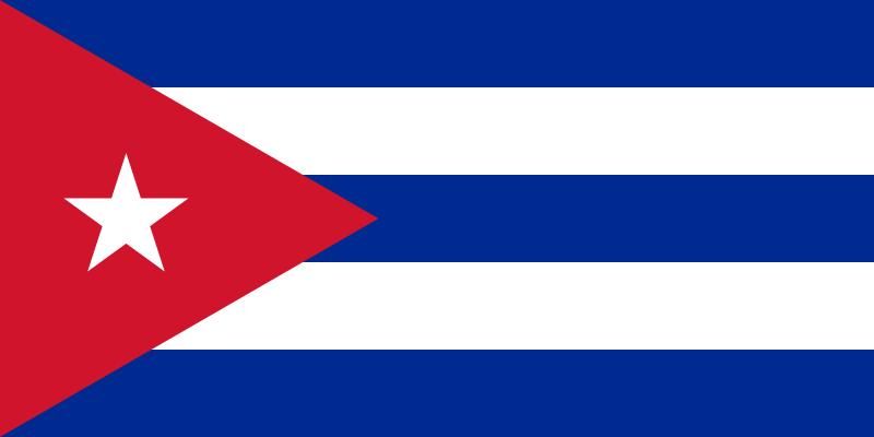 die Flagge von Kuba hohe Auflösung