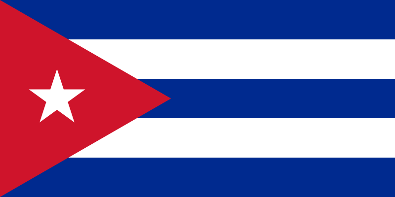 drapeau de Cuba haute résolution