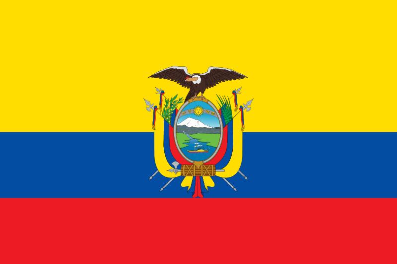bandeira Equador em alta resolução