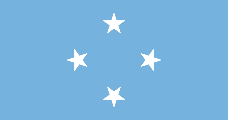 the flag of Federated States of Micronesia high resolution