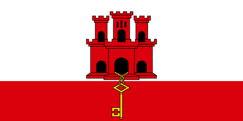 the flag of Gibraltar high resolution
