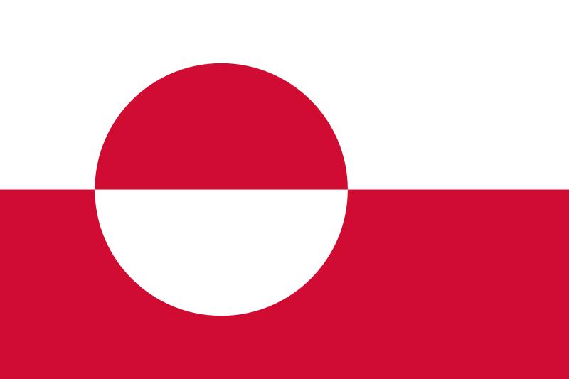 die Flagge von Grönland hohe Auflösung