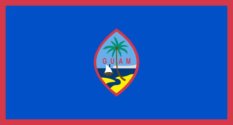 die Flagge von Guam hohe Auflösung