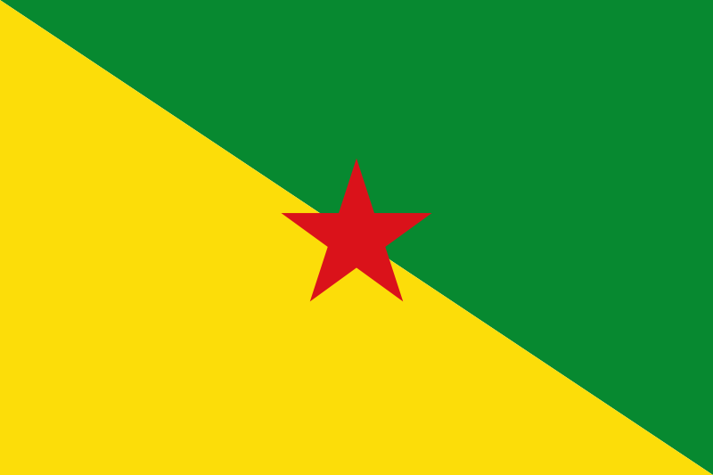 the flag of French Guiana high resolution