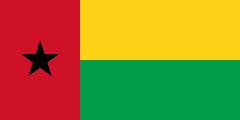 the flag of Guinea-Bissau high resolution