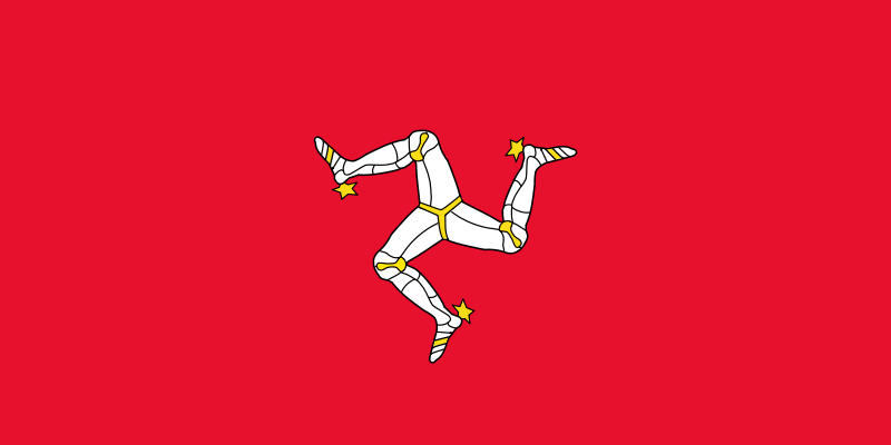 the flag of Isle of Man high resolution
