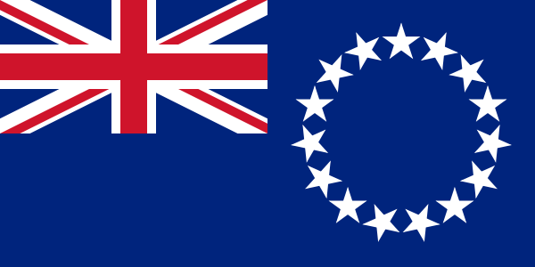 the flag of Cook Islands high resolution
