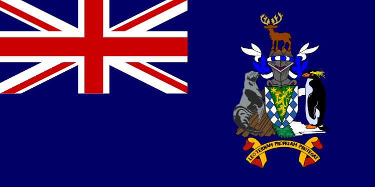 drapeau de Géorgie du Sud et Sandwich du Sud haute résolution