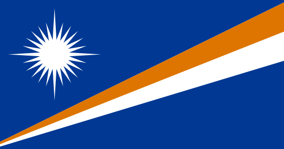 the flag of Marshall Islands high resolution