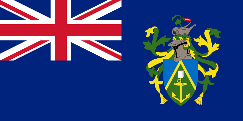 the flag of Pitcairn Islands high resolution