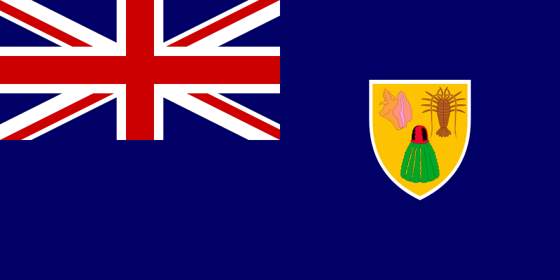 the flag of Turks and Caicos Islands high resolution
