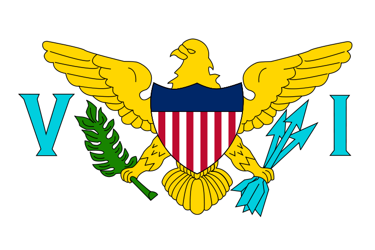 the flag of Virgin Islands U.S. high resolution