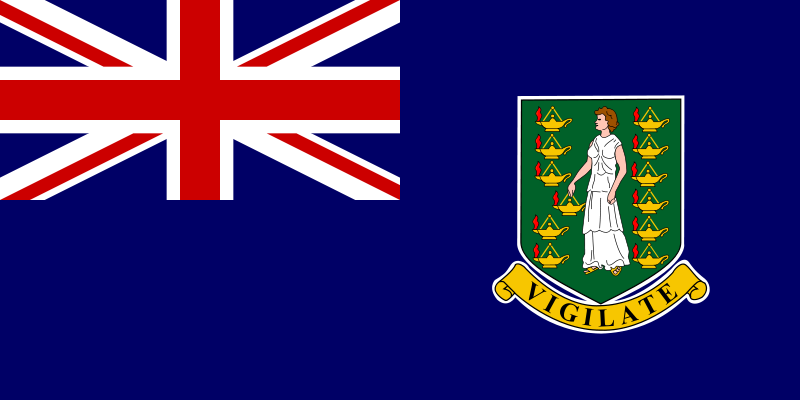 the flag of British Virgin Islands high resolution
