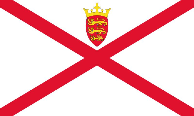 la bandera de Jersey en gran resolucion