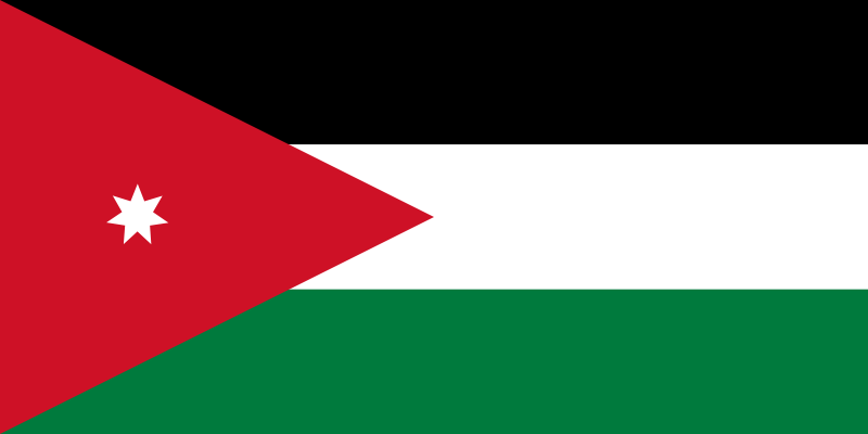 the flag of Jordan high resolution