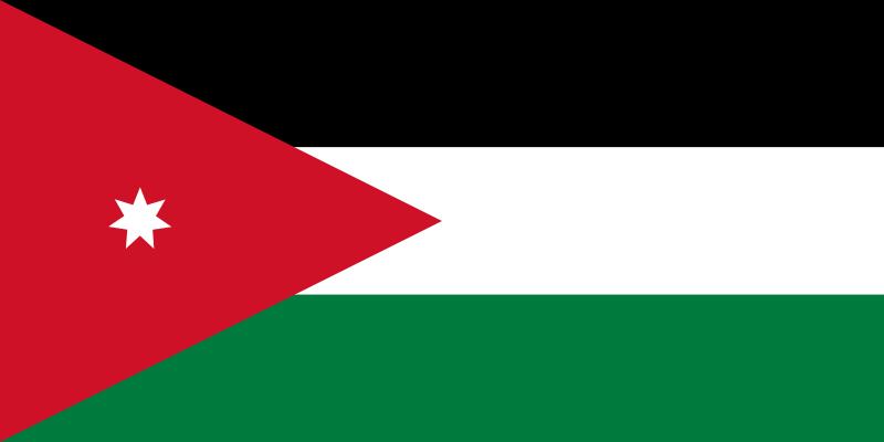 the flag of Jordan high resolution