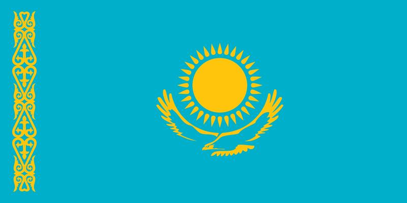drapeau de Kazakhstan haute résolution