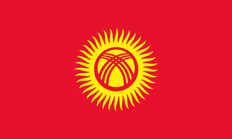 die Flagge von Kirgisistan hohe Auflösung
