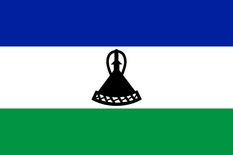 la bandera de Lesoto en gran resolucion