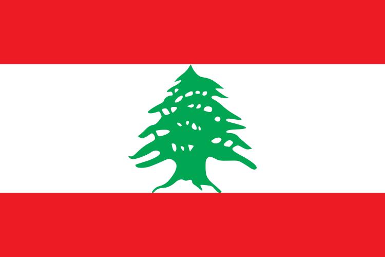 die Flagge von Libanon hohe Auflösung