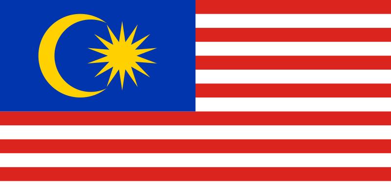 la bandera de Malasia en gran resolucion
