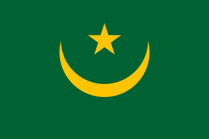 die Flagge von Mauretanien hohe Auflösung