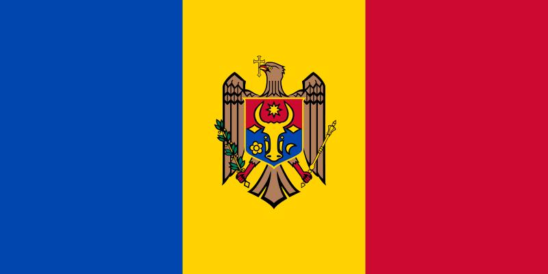 drapeau de Moldova haute résolution