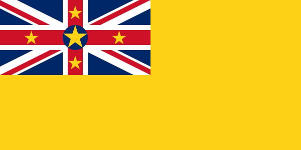 die Flagge von Niue hohe Auflösung