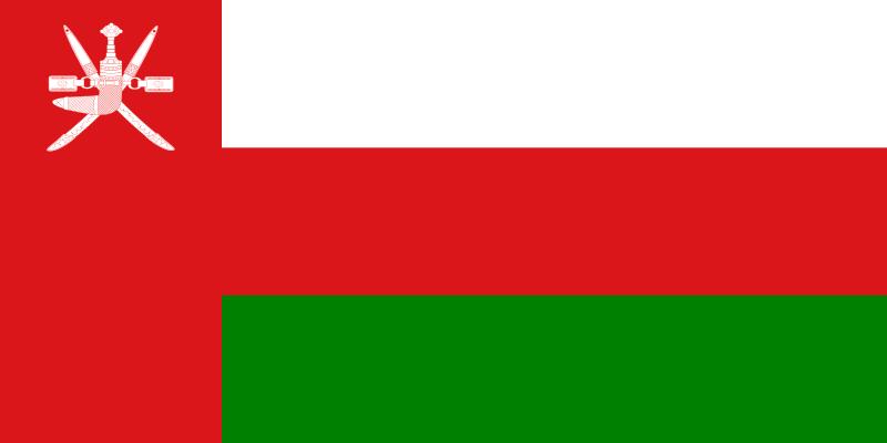 la bandera de Omán en gran resolucion