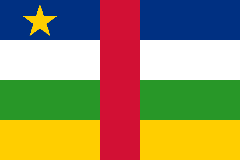 the flag of Central African Republic high resolution