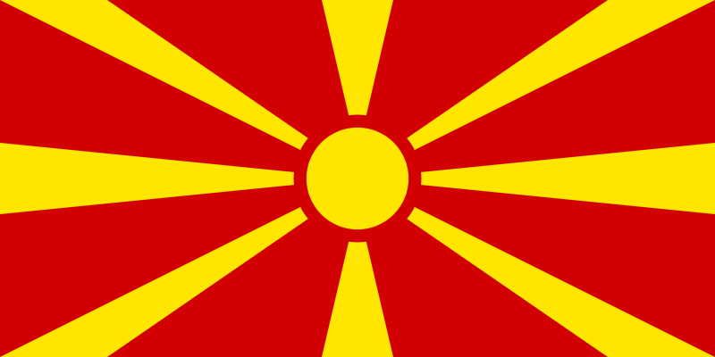 the flag of Republic of Macedonia high resolution