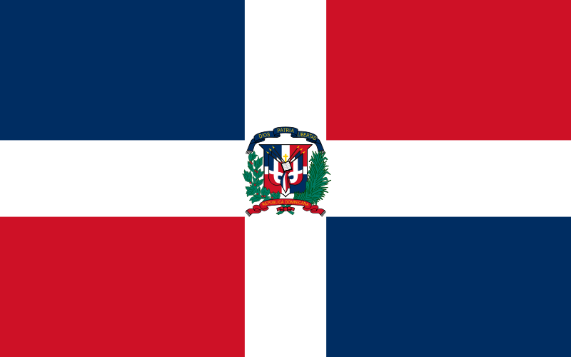the flag of Dominican Republic high resolution