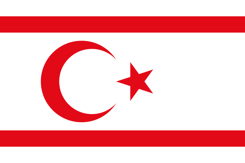 the flag of Turkish Republic of Northern Cyprus high resolution