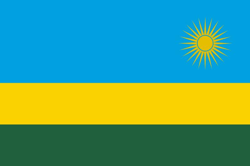 la bandera de Ruanda en gran resolucion