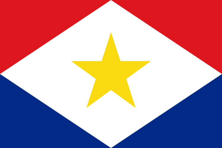 the flag of Saba high resolution