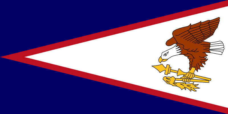die Flagge von Amerikanisch-Samoa hohe Auflösung